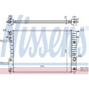 Радиатор, охлаждение двигател 63072a nissens - OPEL OMEGA B (25_, 26_, 27_) седан 2.0