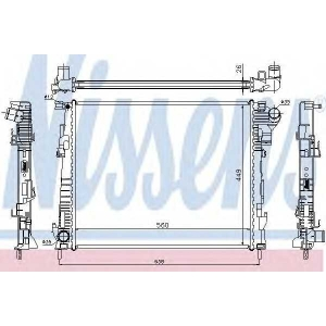 Радиатор, охлаждение двигател 63122 nissens - RENAULT TRAFIC II автобус (JL) автобус 2.0 dCi 90 (JL0H)