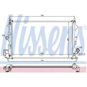 NISSENS 63123 Радиатор OP SIGNUM(02-)1.8 i 16V(+)[OE 1300 284]