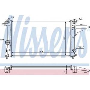 Радиатор, охлаждение двигател 632231 nissens - OPEL VECTRA A Наклонная задняя часть (88_, 89_) Наклонная задняя часть 1.6 i