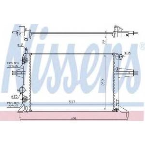 NISSENS 632481 Радиатор охлаждения OPEL ASTRA G (98-) (пр-во Nissens)