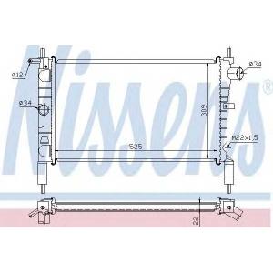 NISSENS 632761 Радіатор охолоджування
