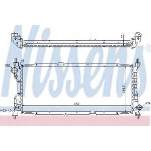 NISSENS 63286A Радиатор охлаждения OPEL CORSA B (93-) 1.5-1.7 D (пр-во Nissens)