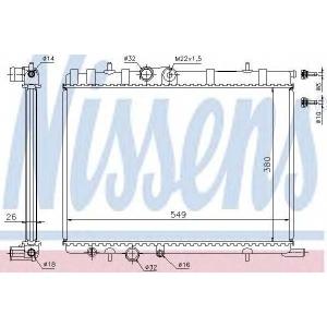 NISSENS 63502 Радіатор охолоджування