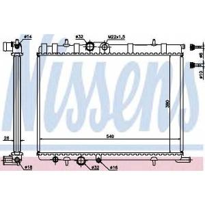NISSENS 63502A Радиатор охлаждения CITROEN, PEUGEOT (пр-во Nissens)