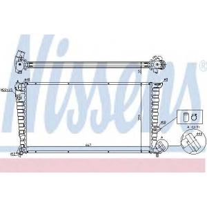 NISSENS 63508 Радіатор охолоджування