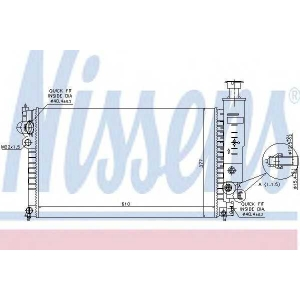NISSENS 63528 Радиатор охлаждения PEUGEOT (пр-во Nissens)
