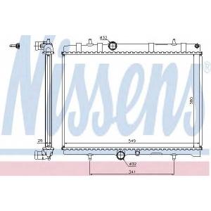 NISSENS 63606A Радіатор охолоджування