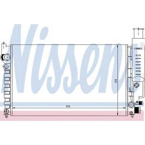 NISSENS 63613 Радиатор охлаждения PEUGEOT 405 (87-) 1.6-1.9 (пр-во Nissens)