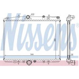 NISSENS 63705A Радіатор охолоджування