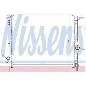 Радиатор, охлаждение двигател 637609 nissens - DACIA LOGAN пикап (US_) пикап 1.4