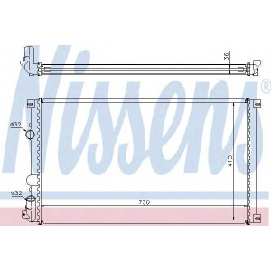 NISSENS 63761 Радиатор охлаждения RENAULT MASTER II (98-) (пр-во Nissens)