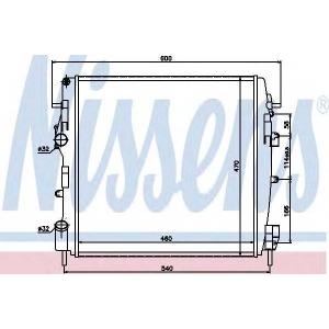 NISSENS 63762 Радіатор охолоджування