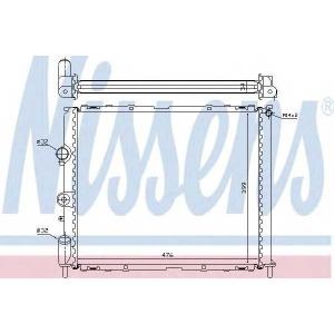 NISSENS 63768 Радиатор охлаждения RENAULT CLIO II/ KANGOO I (98-) (пр-во Nissens)