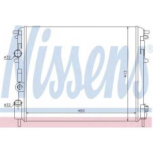 Радиатор, охлаждение двигател 637931 nissens - RENAULT KANGOO Express (FC0/1_) фургон 1.6 16V bivalent