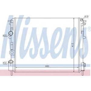 NISSENS 638081 Радиатор, охлаждение двигател