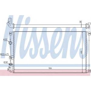 NISSENS 63812A Радіатор охолоджування