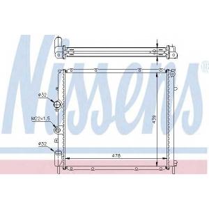 NISSENS 63854A Радиатор охлаждения RENAULT KANGOO I (98-) 1.5 dCi/1.9D (пр-во Nissens)