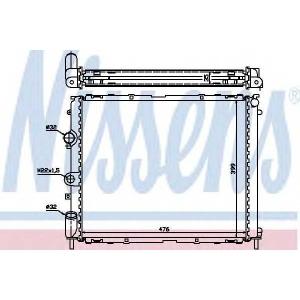 NISSENS 63855A Радиатор, охлаждение двигател