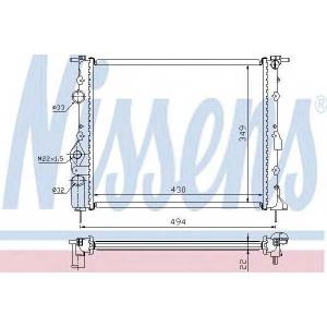 NISSENS 639371 Радіатор охолоджування