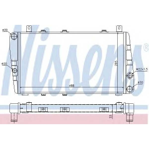 Радиатор, охлаждение двигател 64011 nissens - SKODA FAVORIT (781) Наклонная задняя часть 1.3 135L (781)