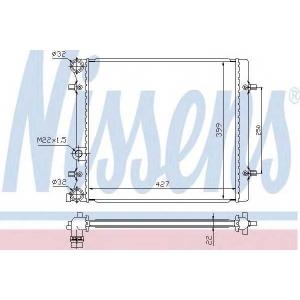 NISSENS 641011 Радиатор охлаждения SEAT; SKODA; VW (пр-во Nissens)
