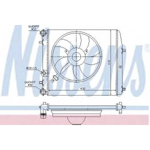 NISSENS 64103 Радиатор SEAT IBIZA(01-)1.2 i 12V(+)[OE 6Q0.121.201 BT]