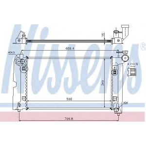 NISSENS 64646A Радиатор охлаждения TOYOTA AVENSIS (T25) (03-)/COROLLA (01-) (пр-во Nissens)