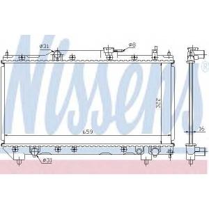 NISSENS 64781A Радиатор охлаждения TOYOTA AVENSIS (T22) (97-) 1.6 (пр-во Nissens)
