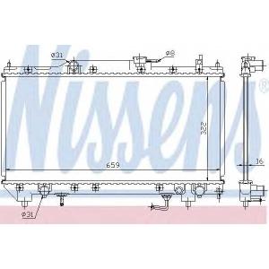 NISSENS 64782A Радиатор, охлаждение двигател