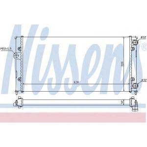 NISSENS 651931 Радиатор охлаждения SEAT; VW (пр-во Nissens)