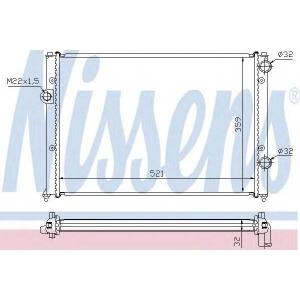 NISSENS 652511 Радіатор охолоджування