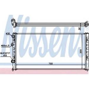 NISSENS 65252 Радиатор охлаждения VW PASSAT B4 (93-) 1.6-2.9i (пр-во Nissens)