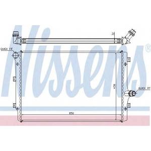 Радиатор, охлаждение двигател 65281a nissens - VW PASSAT (362) седан 1.6 TDI