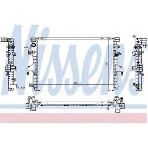 Радиатор, охлаждение двигател 65285 nissens - VW TRANSPORTER V автобус (7HB, 7HJ, 7EB, 7EJ, 7EF) автобус 2.0 TDI