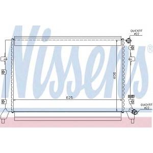 NISSENS 65294 Радиатор охлаждения AUDI; SKODA; Volkswagen (пр-во Nissens)