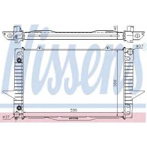 NISSENS 65535A Радиатор VOLVO S70/V70(96-)2.0 i 10V(+)[OE 5003823]