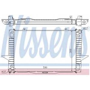 NISSENS 65536A Радиатор охлаждения VOLVO 850 (91-)/S70/V70 (96-) (пр-во Nissens)
