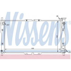 NISSENS 66656 Радиатор охлаждения KIA CLARUS (96-) (пр-во Nissens)