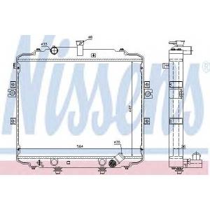 Радиатор, охлаждение двигател 66996 nissens - HYUNDAI H-1 c бортовой платформой/ходовая часть c бортовой платформой/ходовая часть 2.5 CRDi