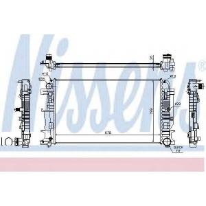 Радиатор, охлаждение двигател 67156a nissens - MERCEDES-BENZ SPRINTER 3,5-t автобус (906) автобус 318 CDI (906.731, 906.733, 906.735)