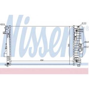 NISSENS 67174 Радіатор охолоджування