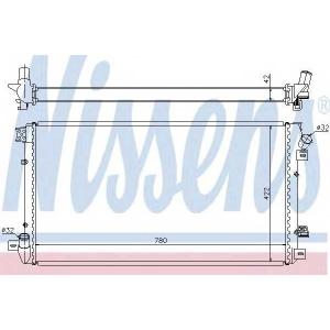 NISSENS 67287 Радиатор, охлаждение двигател