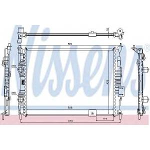 NISSENS 67364 Радиатор охлождения NISSAN QASHQAI (J10) (07-) 1.6 (пр-во Nissens)