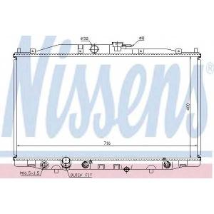 NISSENS 68112 Радіатор охолоджування