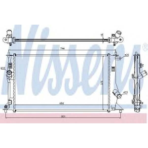 NISSENS 68503 Радиатор охлождения MAZDA 5 (05-) (пр-во Nissens)