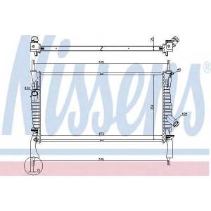 NISSENS 69225 Радиатор, охлаждение двигател