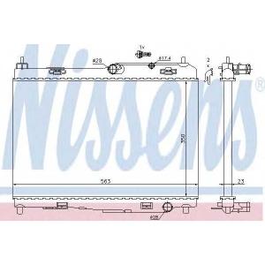 Радиатор, охлаждение двигател 69235 nissens - FORD FIESTA VI Наклонная задняя часть 1.6