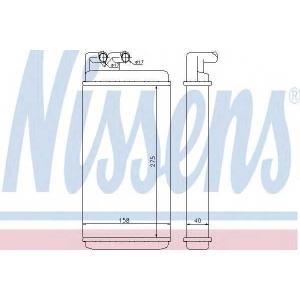 NISSENS 70220 Радиатор печки AUDI 100/ A6 (пр-во Nissens)