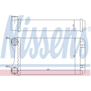 Теплообменник, отопление салона 70226 nissens - AUDI A4 (8E2, B6) седан 1.8 T
